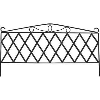 "Mintcraft GF-3179 Black Garden Fence, 15-3/4""H x 29-1/2""W"