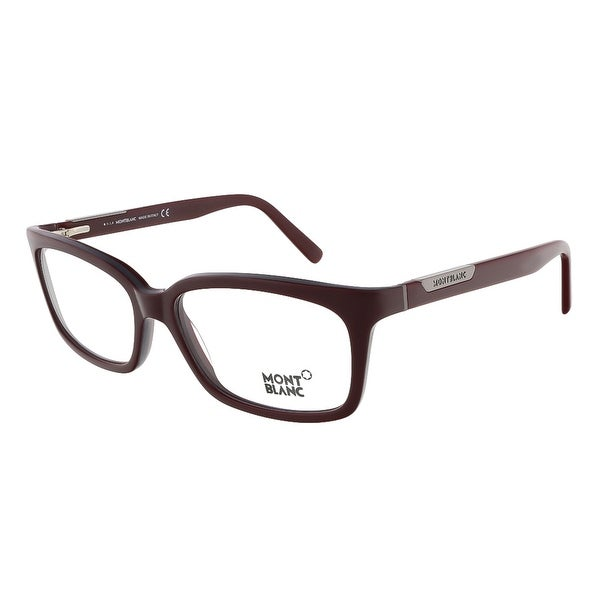 Montblanc MB0429/V 071 Bordeaux Rectangular Eyewear - 57-16-140