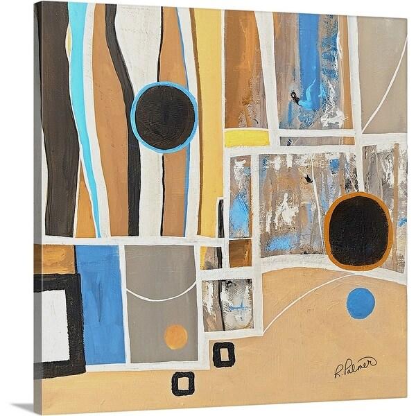 """Tan Geo Two"" Canvas Wall Art"