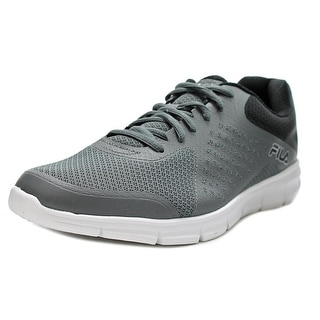 Fila Memory Faction Men Round Toe Synthetic Gray Running Shoe