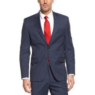 Ralph Lauren Regular Fit Blue Pinstripe Wool 2-Button Sportcoat 40 Short 40S