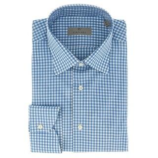 Canali Blue Gingham Formal Shirts