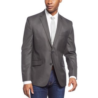 Kenneth Cole New York Slim Fit Black and Gray Mini Check Sportcoat 44 Regular