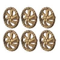 6 Vintage Cabinet Knob Solid Cast Brass Swirled  | Renovator's Supply