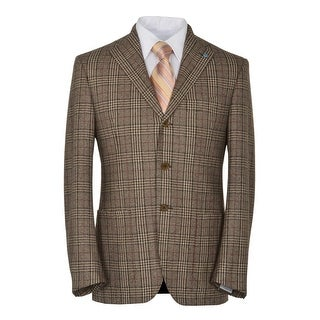 Eidos Napoli By Isaia Tipo 3-on-2 Buttons Plaid Sportcoat 40 Regular 40R