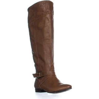Chinese Laundry Spring Street Buckle Boots, Cognac - 6.5 us