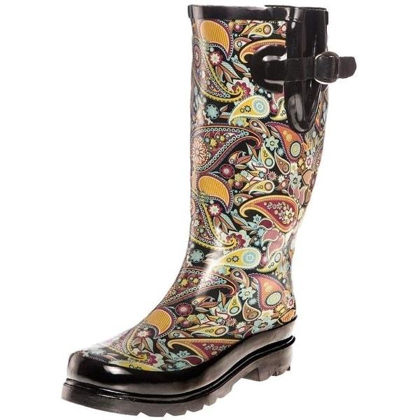 Blazin Roxx Outdoor Boots Womens Paisley Round Orange Black
