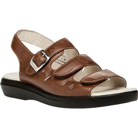 Propet Women's Breeze Walker Teak Brown Smooth