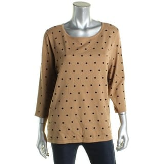 Karen Scott Womens Pullover Sweater Scoop-Neck Polka Dot - L|https://ak1.ostkcdn.com/images/products/is/images/direct/cba5ed6f8d9ecfc685beda7bf7b76939a84288ff/Karen-Scott-Womens-Pullover-Sweater-Scoop-Neck-Polka-Dot.jpg?impolicy=medium