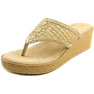 Sbicca Tomatillo Women Open Toe Canvas Nude Thong Sandal