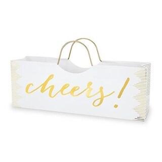 Cakewalk 3888 Cheers Wine Purse Bag, White