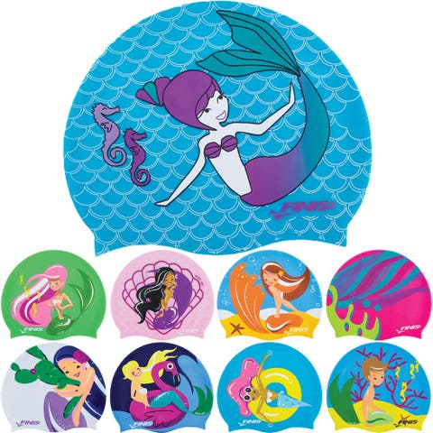 FINIS Kid's Mermaid Collection Silicone Swim Cap - One Size