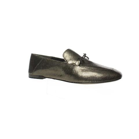 Donna Karan Womens Debz Gold Loafers Size 7.5