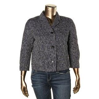 Tommy Hilfiger Womens Cropped Jacket Tweed Marled
