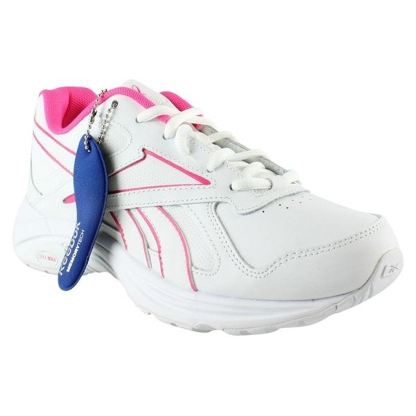 cee2f95db7c Reebok Womens Walk Ultra V Dmx Max Pr-White SolarPink Walking Shoes Size  6.5. Click to Zoom