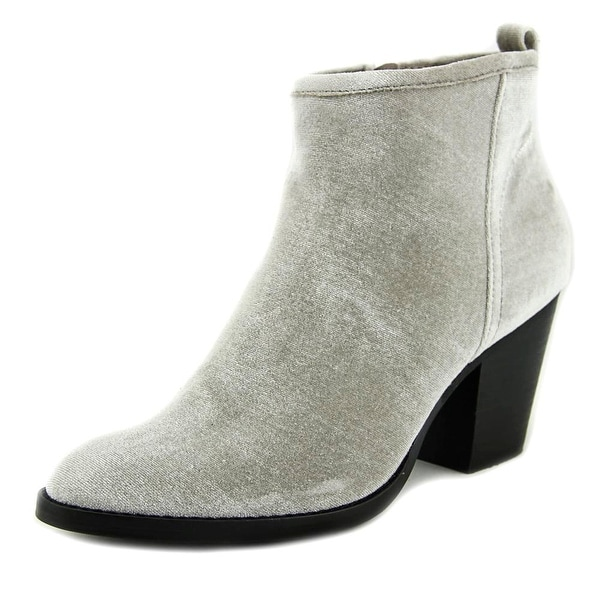 Dolce Vita Jozie Women Round Toe Canvas Silver Ankle Boot