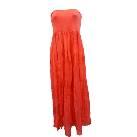 Lola Women's Overlay Stretch Shift Dress, Coral, Small