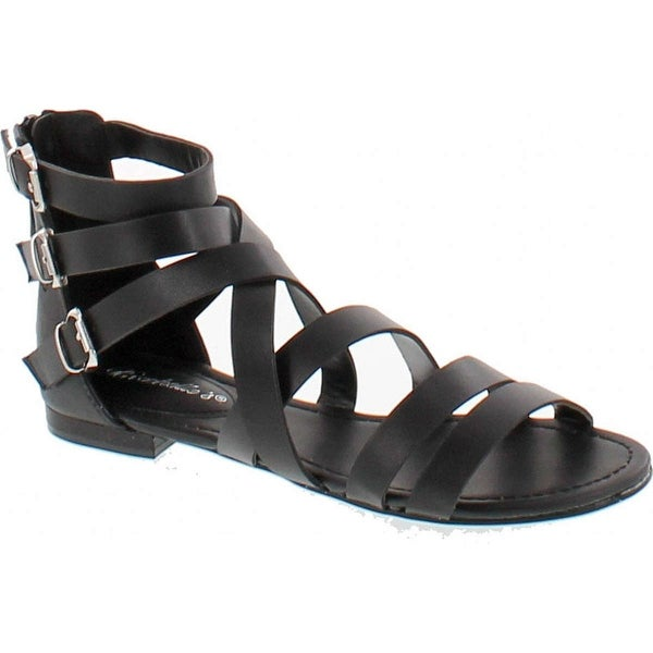 Breckelle's Women's Covina-24 Gladiator Strappy Flat Sandals