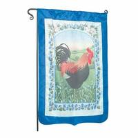 Flag Blue Nylon Rooster 29 X 43 No Pole