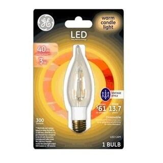 GE 33031 Vintage LED Light Bulb, 300 Lumens, Warm
