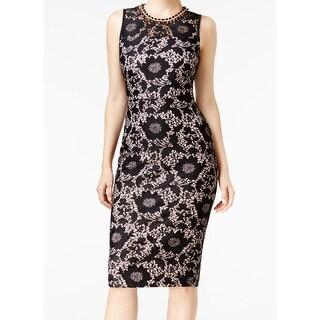 Jessica Simpson NEW Black Womens Size 2 Embellished Sheath Dress