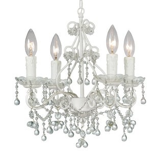 Link to Paris Market 4 Light Clear Crystal White Mini Chandelier - 14'' W x 15'' H Similar Items in Chandeliers