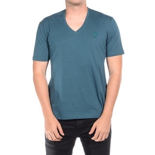 Versace Collection Men Medusa V-Neck Tee T-Shirt Green