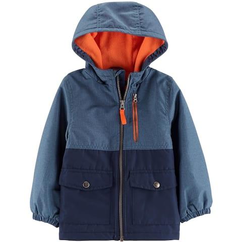 Carter's Little Boys' Fleece-Lined Jacket, Blue, 4-5 Kids