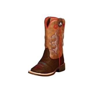 DBL Barrel Western Boots Toddler Kolter Zip, Brown - Size 6.5