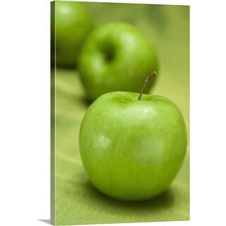 """Green apple"" Canvas Wall Art"
