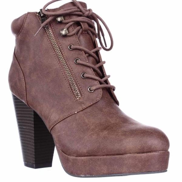 MG35 Rheta Platform Ankle Boots, Cognac