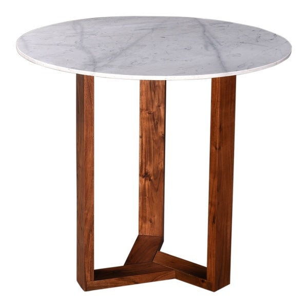 Aurelle Home Jayda Modern Marble and Acacia Wood Round Counter Table. Opens flyout.