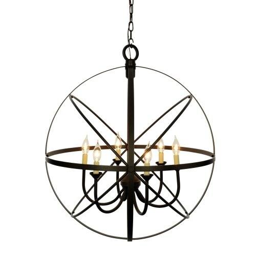 Miseno MLIT155241 6-Light Cage Orb Chandelier