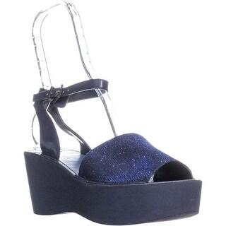 Kenneth Cole REACTION Dine Me Platform Sandals, Navy