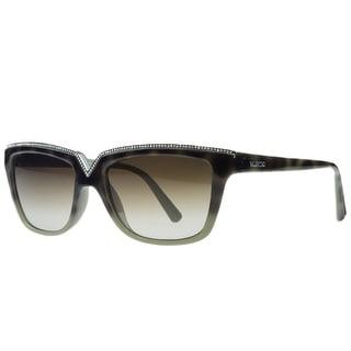 Valentino V646/SR 232 Havana/Sage Rectangular Sunglasses