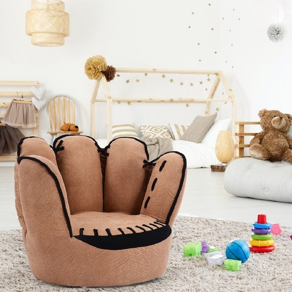 Costway Kids Sofa Five Finger Armrest Chair Couch Children Living Room Toddler Gift