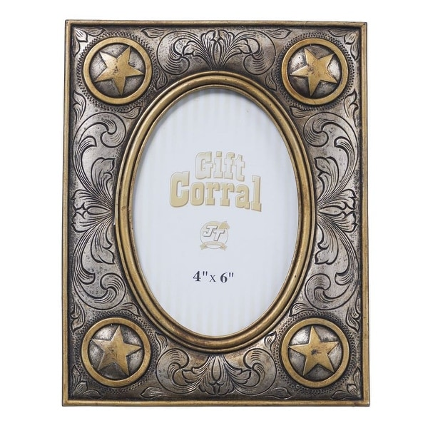 Shop Tough-1 Western Frame Photo Rustic Memory Star Silver Gold ...