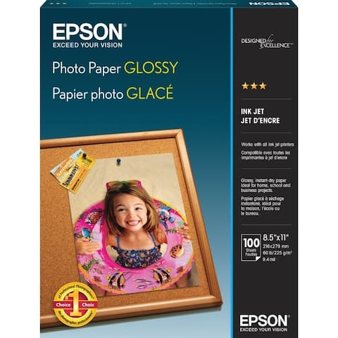 Epson america s041271 photo glossy 8.5x11 100sheets