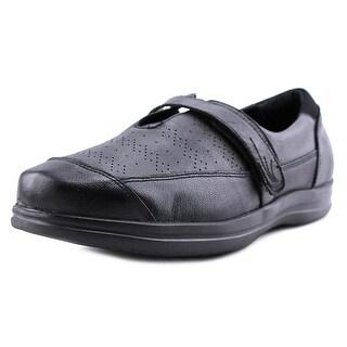 Apex REGINA Women W Round Toe Leather Black Work Shoe