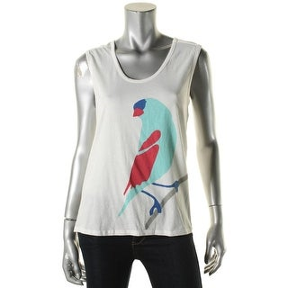 Big Star Womens Casual Top Scoop Neck Sleeveless White XS