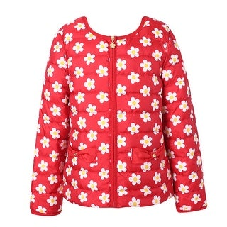 Richie House Girls' Floral Down Jacket