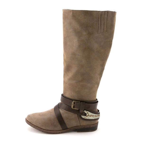 Rampage Womens Isadora (Wide Calf) Almond Toe Mid-Calf Riding Boots