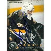 Philippe Derouville Autographed Hockey Card Pittsburgh Penguins