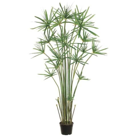 "60"" Potted Artificial Green Cypress Grass Tree"