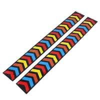 Unique Bargains Car Arrow Mark Adhesive Tape Safety Reflective Strip Decal Sticker 50x6cm 2pcs