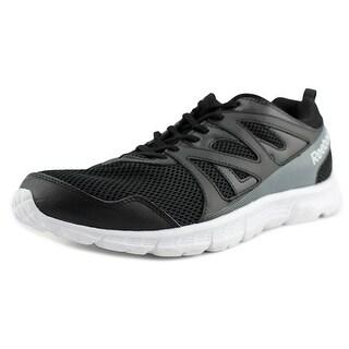Reebok Run Supreme 2.0 Men 4E Round Toe Synthetic Black Sneakers