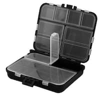 11 Compartments Fishing Hook Storage Box Fish Bait Lure Holder Case Black Clear