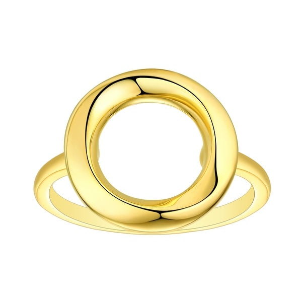Vedantti 18k Gold Open-Circle Solid Everyday Wear Ring. Opens flyout.