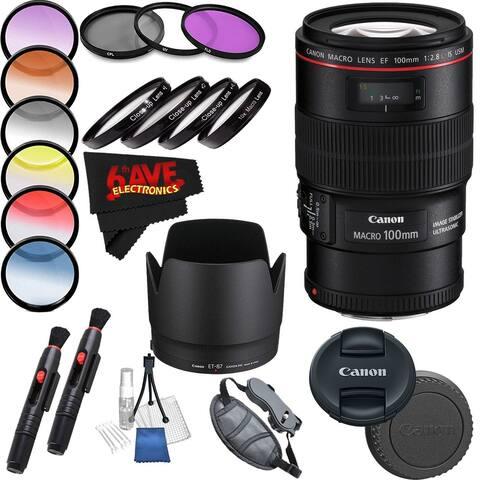Canon EF 100mm f/2.8L Macro is USM Lens Starter Bundle 19