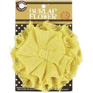 "Wheat - Burlap Flower 4.5"""